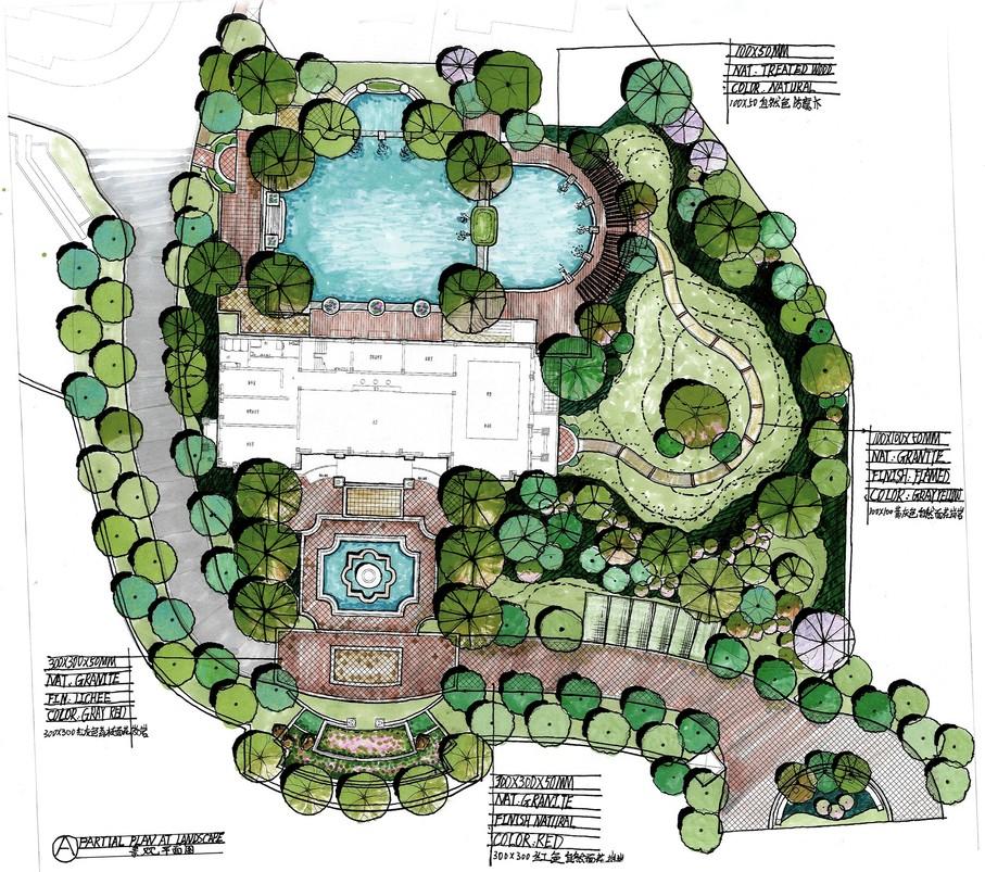 设计团队 | 招聘合作 | 联系我们           宝华山别墅景观手绘